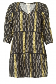 Louizon |  Lurex dress Fayat | black  | Picture 1
