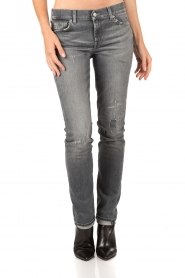7 For All Mankind | Midrise jeans Roxanne lengtemaat 32 | grijs | Afbeelding 2