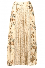 Louizon |  Floral maxi skirt Ted | naturel  | Picture 1