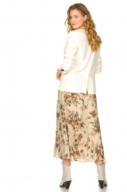 Louizon |  Floral maxi skirt Ted | naturel  | Picture 5