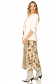 Louizon |  Floral maxi skirt Ted | naturel  | Picture 4