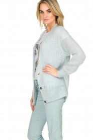 Patrizia Pepe |  Knitted cardigan Barbera | blue  | Picture 5
