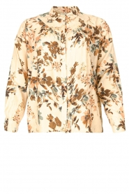 Louizon |  Floral blouse Turlu | natural  | Picture 1