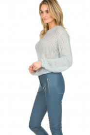 Patrizia Pepe |  Knitted sweater Nona | blue  | Picture 4