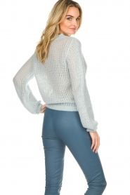 Patrizia Pepe |  Knitted sweater Nona | blue  | Picture 5