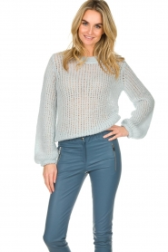 Patrizia Pepe |  Knitted sweater Nona | blue  | Picture 2