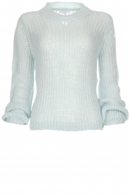 Patrizia Pepe |  Knitted sweater Nona | blue  | Picture 1