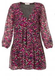 Louizon |  Printed dress Xenia | pink  | Picture 1