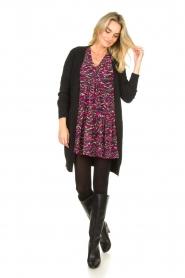 Louizon |  Printed dress Xenia | pink  | Picture 3