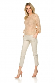 Patrizia Pepe |  Knitted sweater Nona | beige  | Picture 3