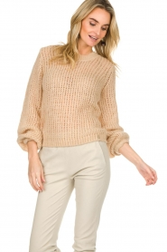 Patrizia Pepe |  Knitted sweater Nona | beige  | Picture 4