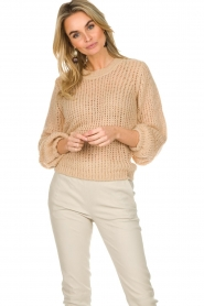 Patrizia Pepe |  Knitted sweater Nona | beige  | Picture 2