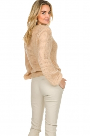 Patrizia Pepe |  Knitted sweater Nona | beige  | Picture 6