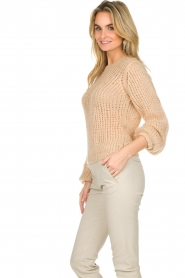 Patrizia Pepe |  Knitted sweater Nona | beige  | Picture 5