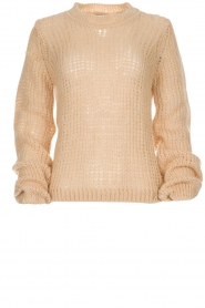 Patrizia Pepe |  Knitted sweater Nona | beige  | Picture 1
