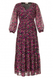 Louizon | Maxi-jurk met print Xylophone | roze   | Afbeelding 1