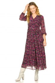 Louizon |  Maxi dress with print  Xylophone  | pink  | Picture 3