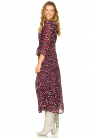 Louizon |  Maxi dress with print  Xylophone  | pink  | Picture 5