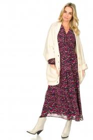 Louizon | Maxi-jurk met print Xylophone | roze   | Afbeelding 3
