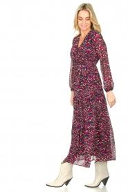 Louizon | Maxi-jurk met print Xylophone | roze   | Afbeelding 5