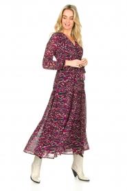 Louizon | Maxi-jurk met print Xylophone | roze   | Afbeelding 4
