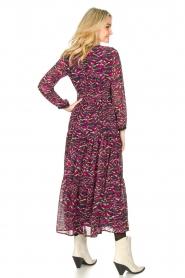 Louizon | Maxi-jurk met print Xylophone | roze   | Afbeelding 6