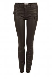DL1961 | Gecoate broek Florance | zwart  | Afbeelding 1