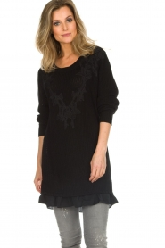 Patrizia Pepe |  Sweater Melanie | black  | Picture 2