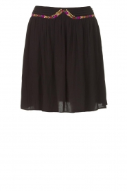 Louizon |  Skirt with colored seams Beatnic | black  | Picture 1