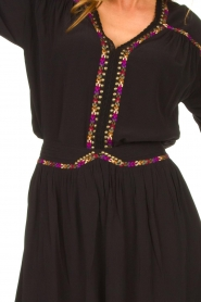 Louizon |  Blouse with coloured seams Bobdy | black   | Picture 5