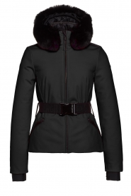 Goldbergh |  Down jacket with faux fur Hida | black  | Picture 1