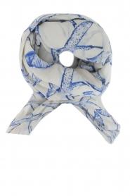 Becksöndergaard | Zijden sjaal Funanya | blauw  | Afbeelding 1