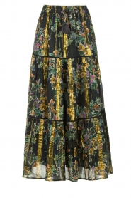 Louizon |  Maxi skirt with lurex Frankzap | black  | Picture 1