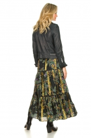 Louizon |  Maxi skirt with lurex Frankzap | black  | Picture 6