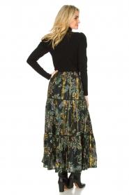 Louizon |  Maxi skirt with lurex Frankzap | black  | Picture 5
