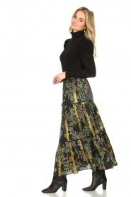 Louizon |  Maxi skirt with lurex Frankzap | black  | Picture 4