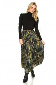 Louizon |  Maxi skirt with lurex Frankzap | black  | Picture 2