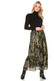 Louizon |  Maxi skirt with lurex Frankzap | black  | Picture 3