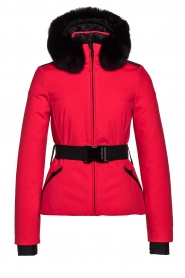 Goldbergh    Down jacket with faux fur Hida   red    Picture 1