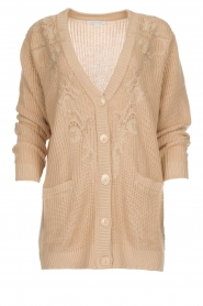 Patrizia Pepe |  Knitted cardigan Olli | beige  | Picture 1