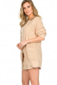Patrizia Pepe |  Knitted cardigan Olli | beige  | Picture 4