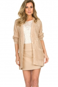 Patrizia Pepe |  Knitted cardigan Olli | beige  | Picture 2