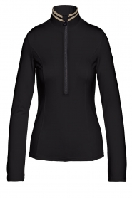 Goldbergh |  Ski pully with golden details Diane | black  | Picture 1