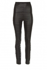Patrizia Pepe |  Faux leather leggings Alice | black  | Picture 1