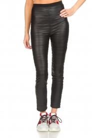 Patrizia Pepe |  Faux leather leggings Alice | black  | Picture 3