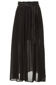 Louizon |  Maxi skirt with belt Mishka | black  | Picture 1
