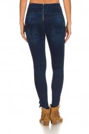 Patrizia Pepe |  High waist jeans Raq | blue  | Picture 5