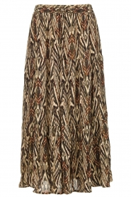 Louizon |  Printed maxi skirt Jagarma | beige  | Picture 1