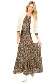 Louizon |  Printed maxi skirt Jagarma | beige  | Picture 3