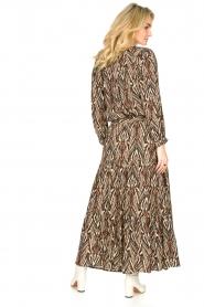 Louizon |  Printed maxi skirt Jagarma | beige  | Picture 7